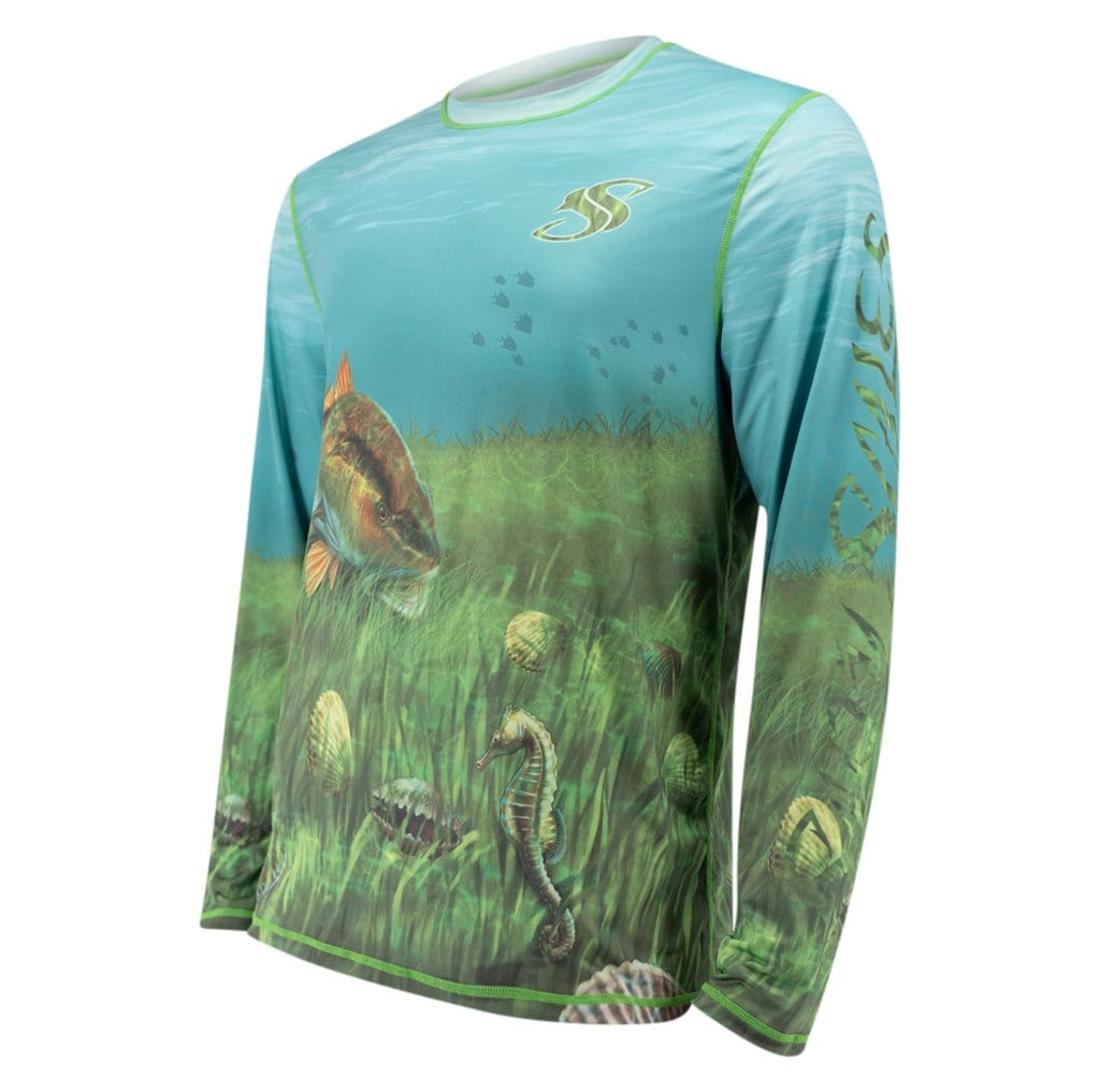 Reversible Scallop/Snorkeling Long Sleeve Shirt