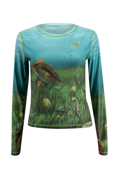 Womens Scallop Long Sleeve
