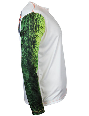 Gator Guts & Glory Long Sleeve Fishing Shirt for Men, Dri-Fit Performance Clothing