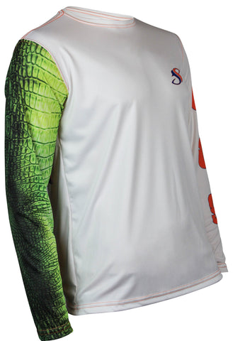 Image of Gator Guts & Glory Long Sleeve Fishing Shirt for Men, Dri-Fit Performance Clothing