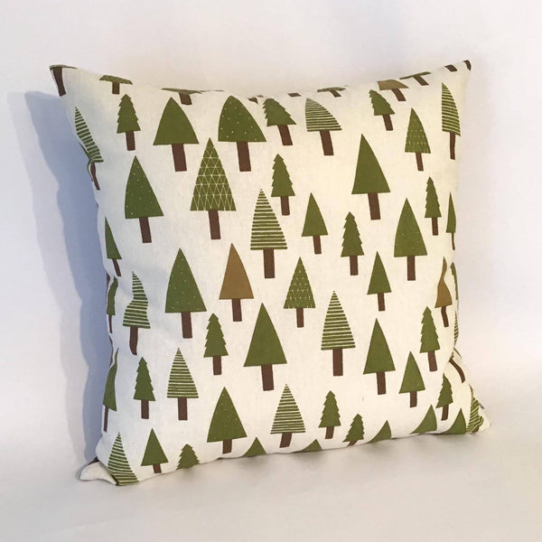 Green Trees Cushion left view