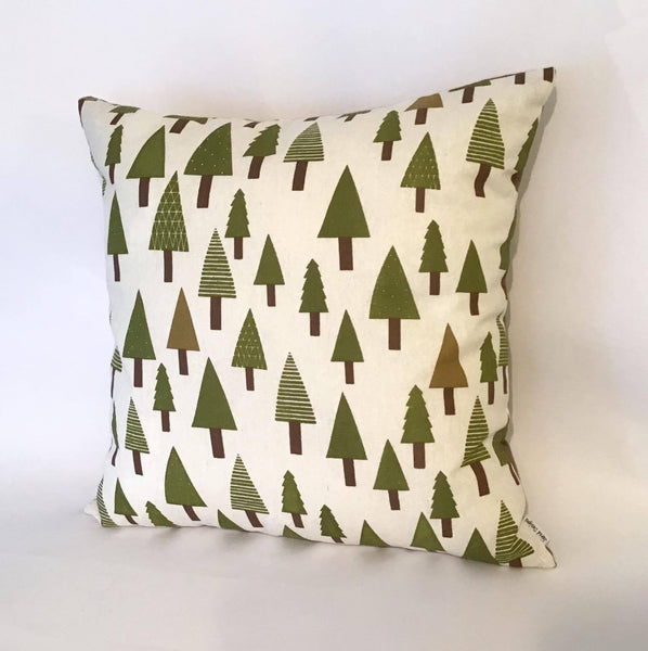 Green Trees Cushion right view