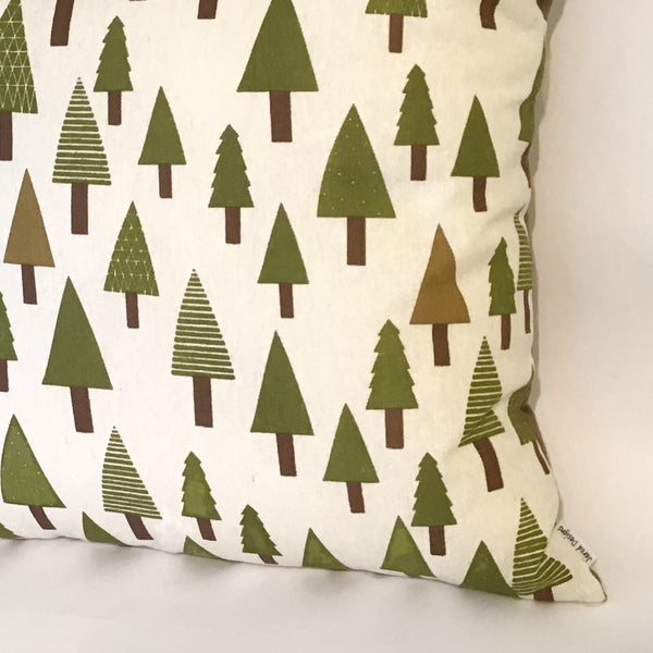 Green Trees Cushion right corner