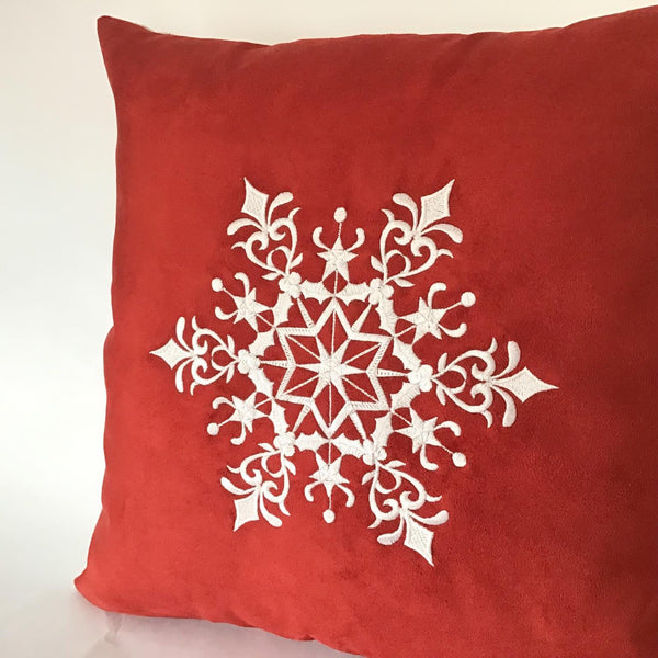 Snowflake Cushion right close up