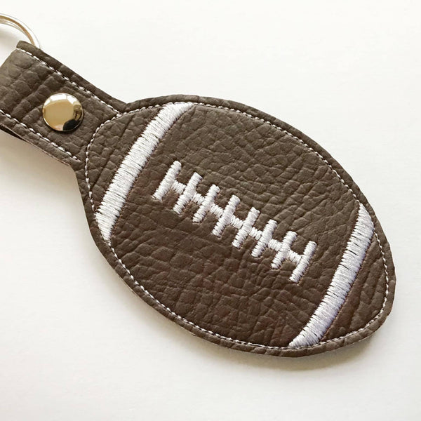 Rugby Football key fob close up