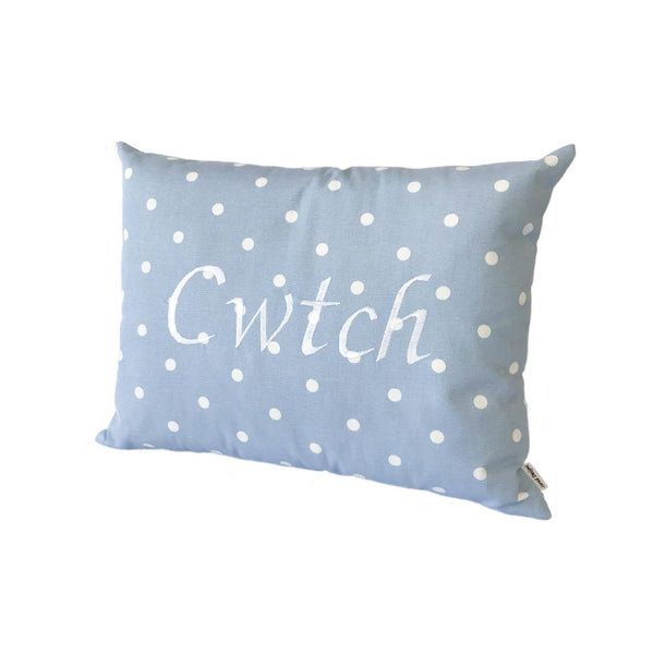 Cwtch Cushion Powder Blue right view
