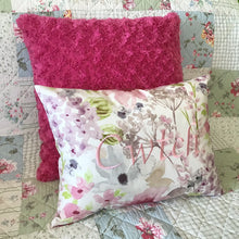 Load image into Gallery viewer, Cwtch Cushion Pastel pink on sofa