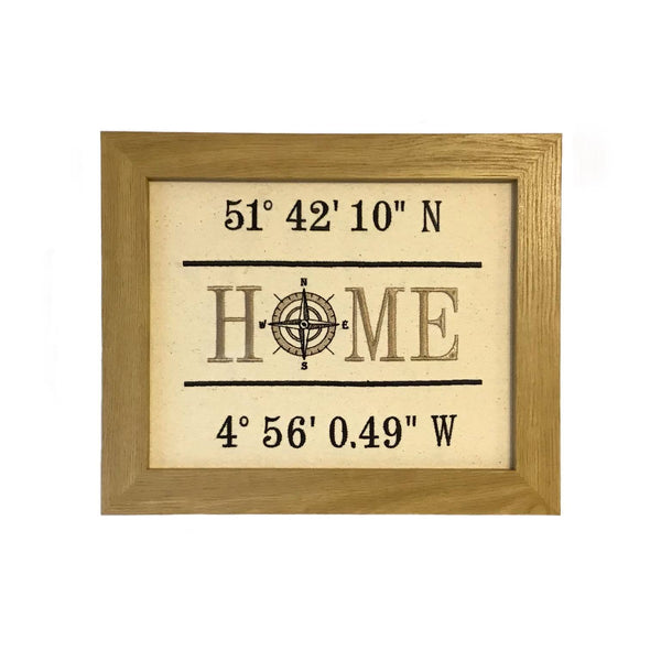 Home Compass Embroidery