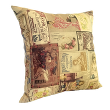 Load image into Gallery viewer, VIntage Soaps Cushion left view