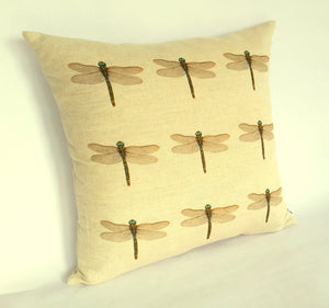 Dragonfly (multi) Cushion left view
