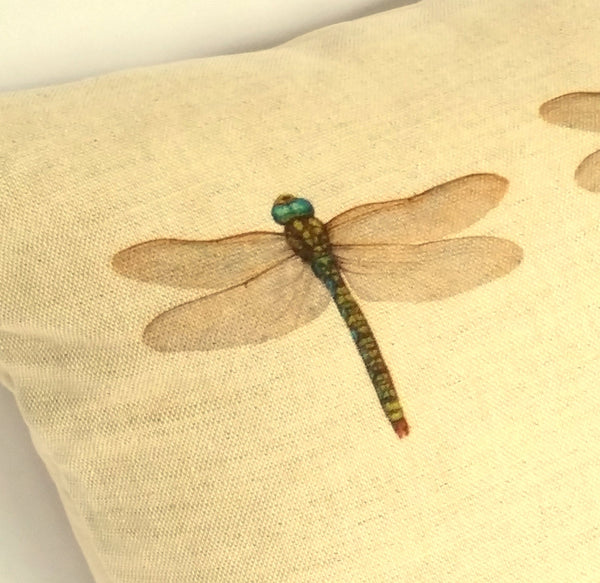 Dragonfly (multi) Cushion close up