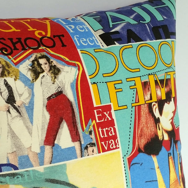 FASHION MAGAZINE CUSHION COVER
