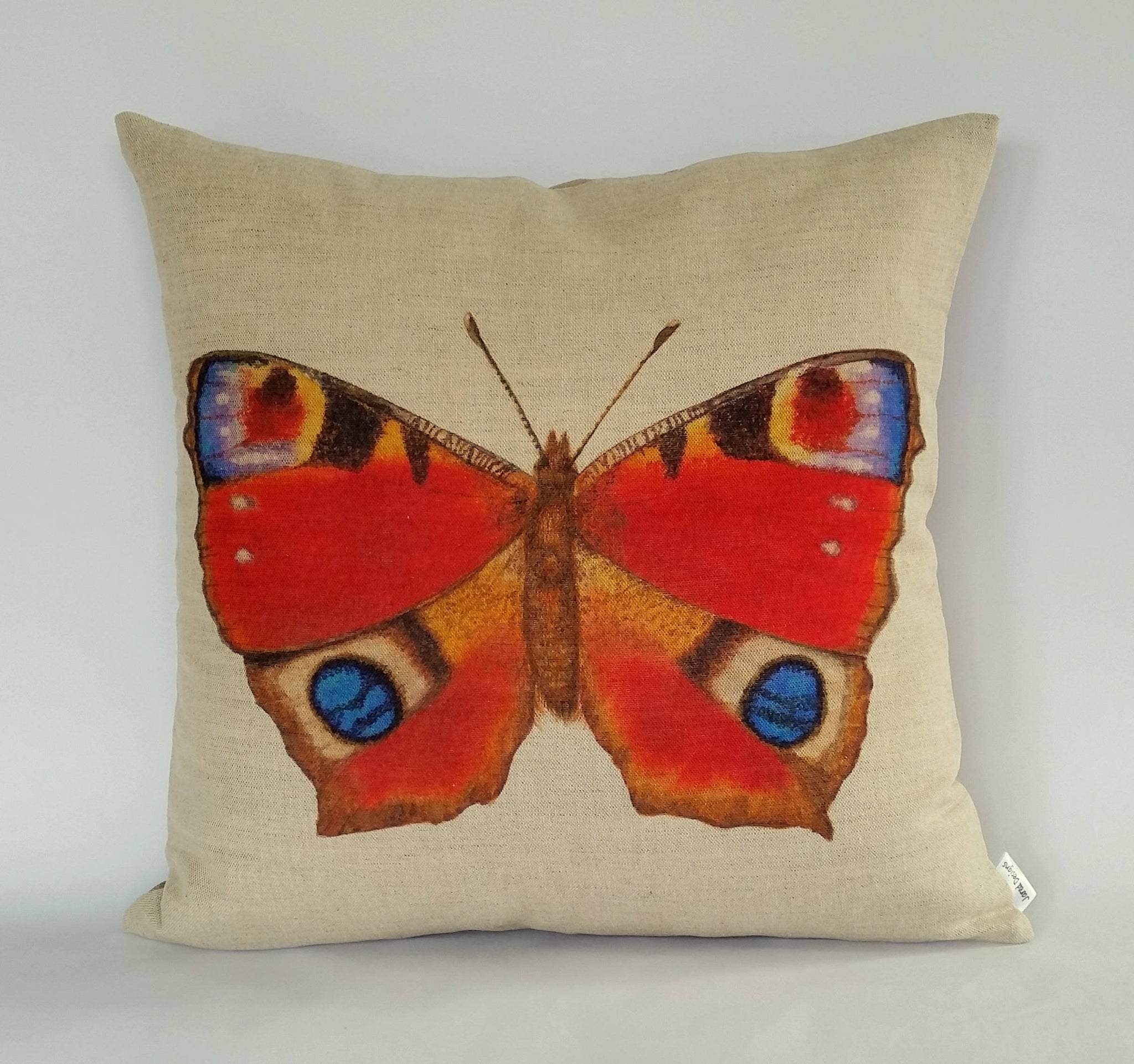 Peacock Butterfly Cushion