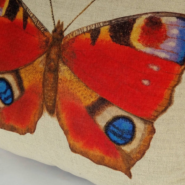 Peacock Butterfly Cushion close up
