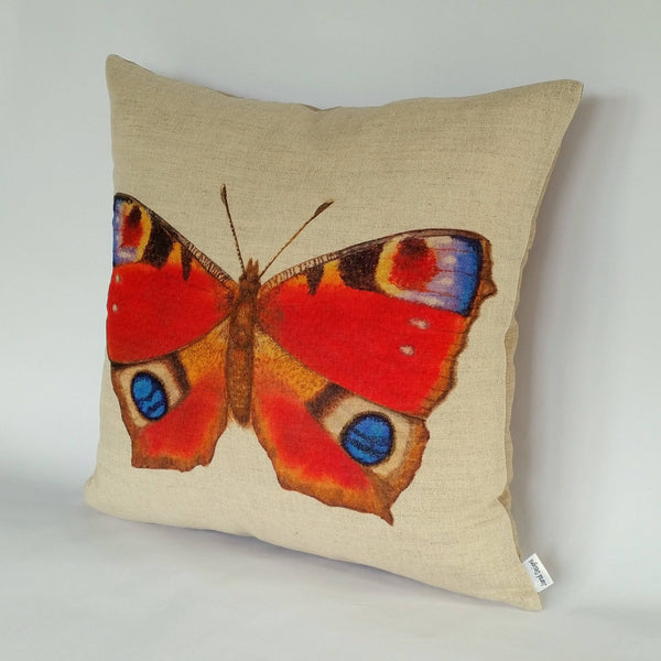 Peacock Butterfly Cushion right view