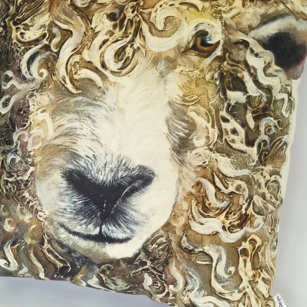 Longwool Ram Cushion close up