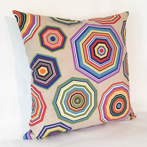 Retro Nonagon Cushion
