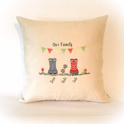Wellie Boot Family Cushion