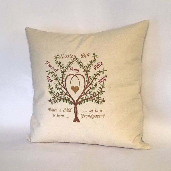 Grandparents Family Tree Cushion right view