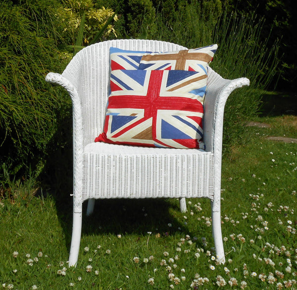 Union Jack Cushion on chair