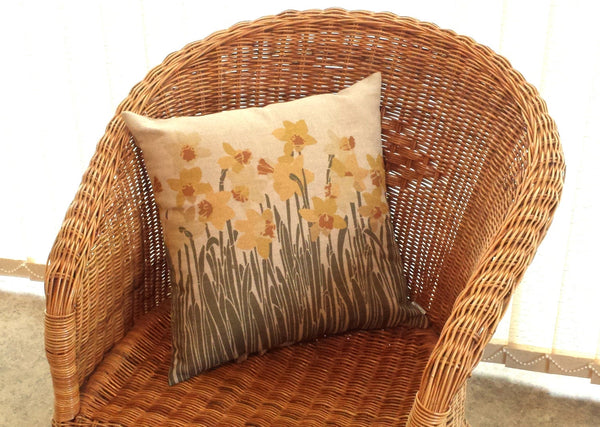 Daffodil Cushion on chair