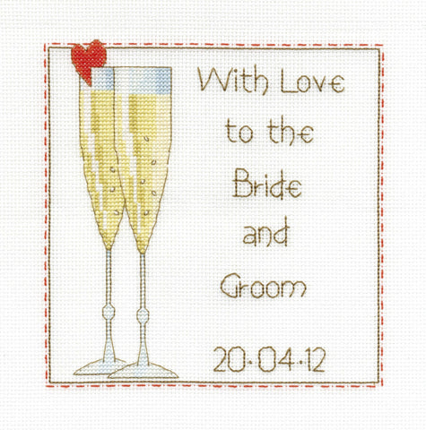WEDDING CELEBRATION SAMPLER CROSS STITCH KIT