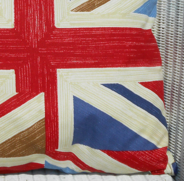 Union Jack Cushion right close up