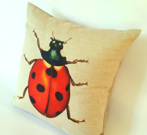 Ladybird Cushion right view