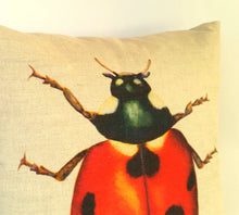 Load image into Gallery viewer, Ladybird Cushion left view
