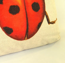 Load image into Gallery viewer, Ladybird Cushion close up
