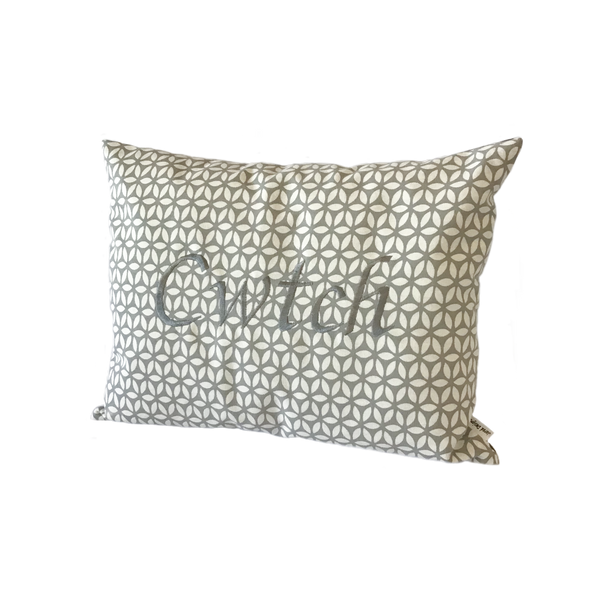 Cwtch Cushion Grey Daisy right view