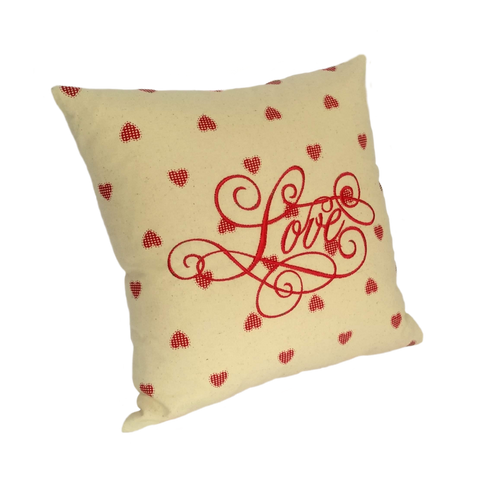 Love Embroidered Cushion