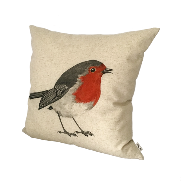 Robin Cushion Cover right view