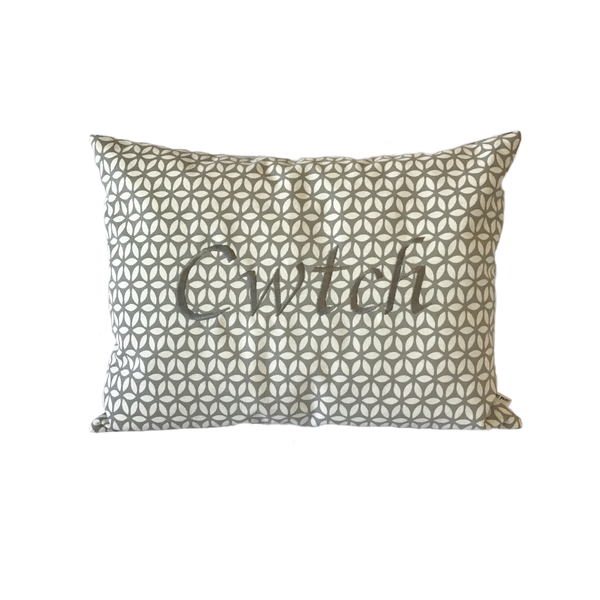 Cwtch Cushion Grey Daisy