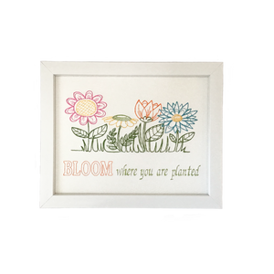 Floral Bloom framed