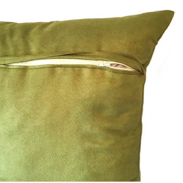 Reverse cushion in green