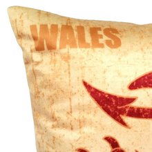 Load image into Gallery viewer, WELSH DRAGON VELVET CUSHION COVER