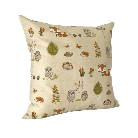 WOODLAND CREATURES CUSHION COVER
