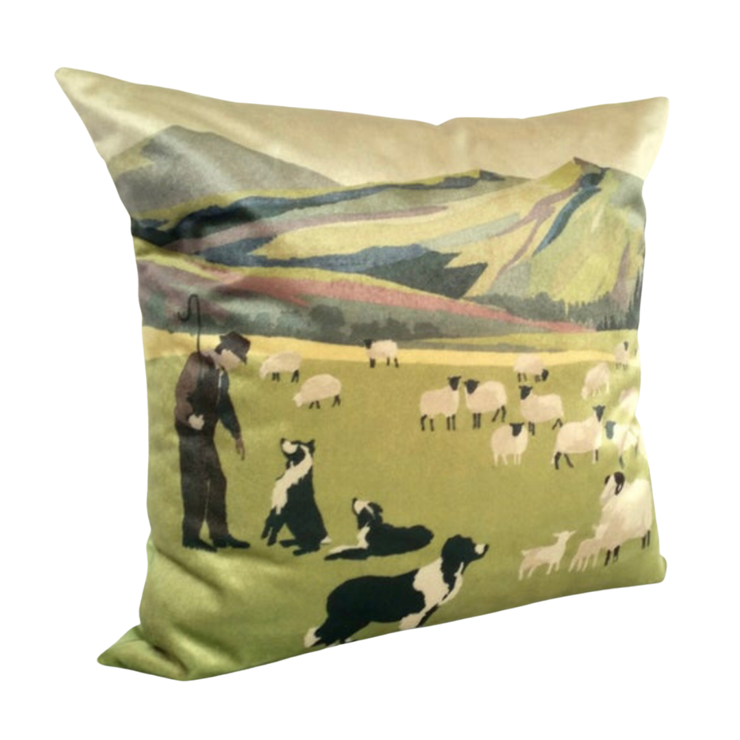 WELSH HILLSIDE CUSHION COVER