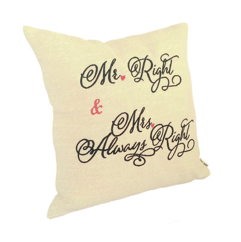 Mr and Mrs Cushion left view