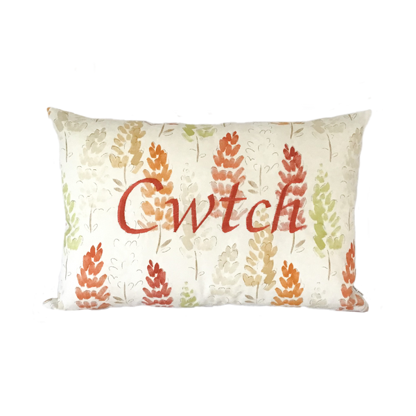Cwtch Cushion Autumn Lupins