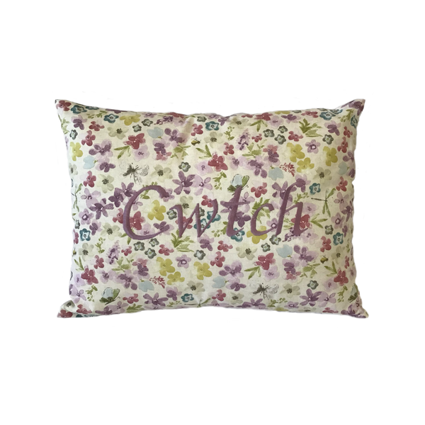 Cwtch Cushion Watercolour Lilac