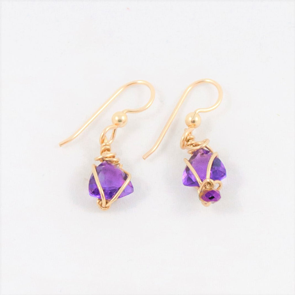 Asymmetrical Amethyst Earrings