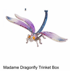 This precious purple Dragonfly little Keepsake are fabulous & collectible!!  Stunning,  high quality pewter Dragonfly are meticulously hand enameled & encrusted with genuine Swarovski Crystals.   Great gift for Mother's Day, Anniversary, Birthday or any occasion.