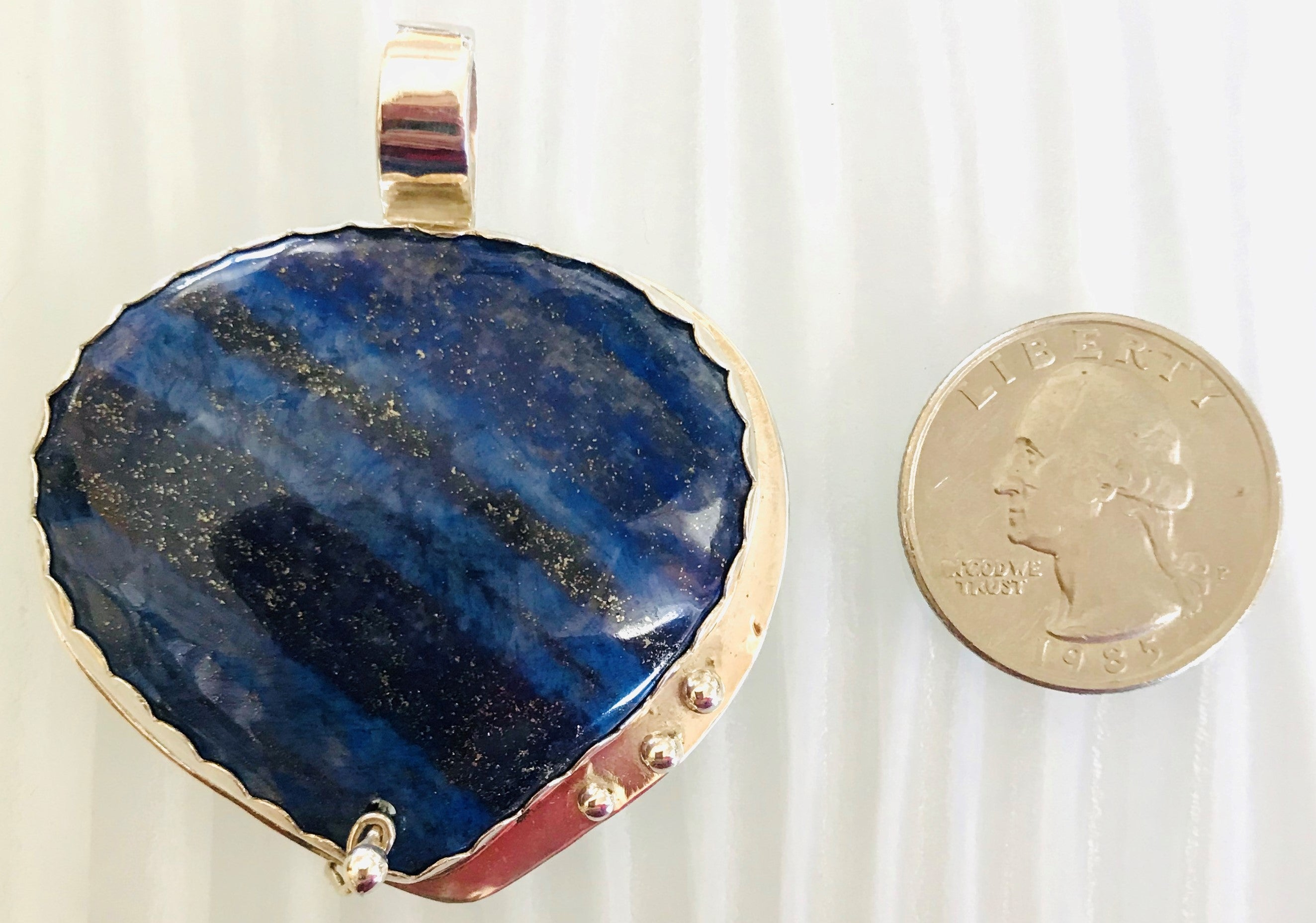 Heart Shaped Lapis Pendant