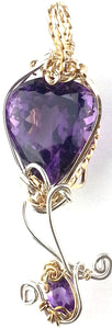 Mother and Child Amethyst Pendant