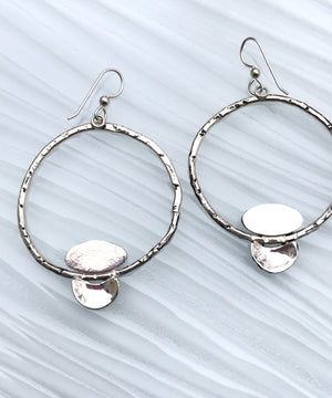Timeless Turquoise Sterling Silver Hoops