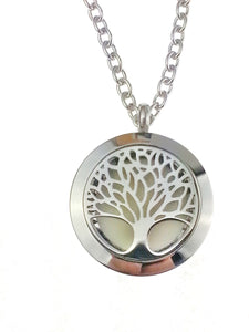 Tree of Life essential oil diffuser necklace from Earth in Wire