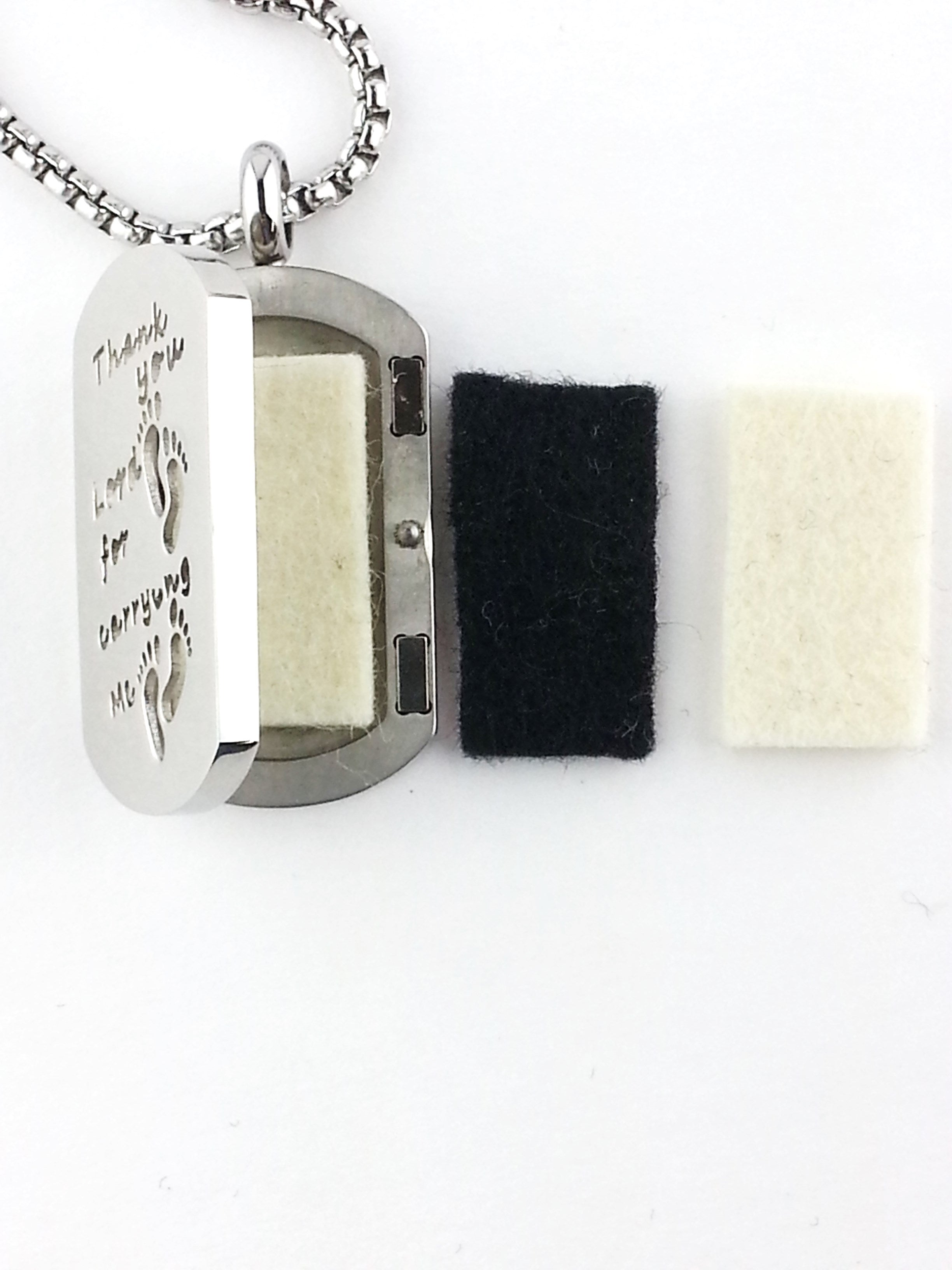 Footprints Essential Oil Diffuser Necklace