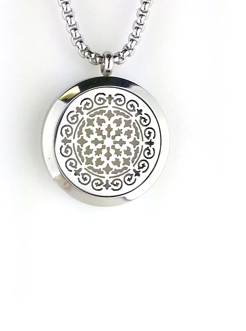 Spanish tile essential oil diffuser necklace from Earth in Wire